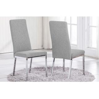 silla de comedor trieste elegance color gris claro con