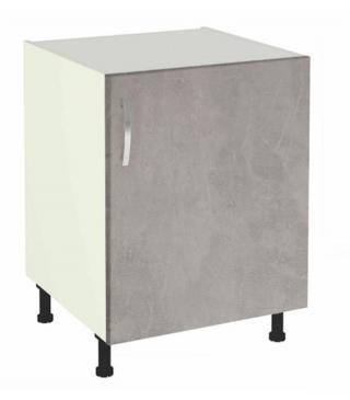 Mueble Cocina Bajo De 60 Una Puerta En Varios Colores , Color - Roble