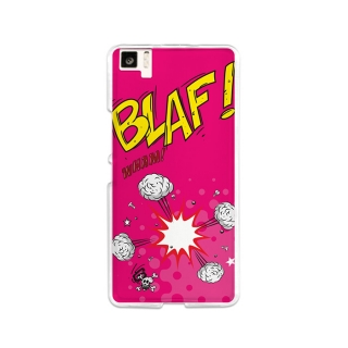 Funda Gel Bq Aquaris M5 Becool Comic Style Blaf