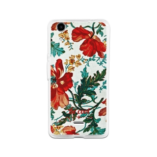 Funda Gel Wiko Rainbow Up Becool Flowers Collection Vintage White