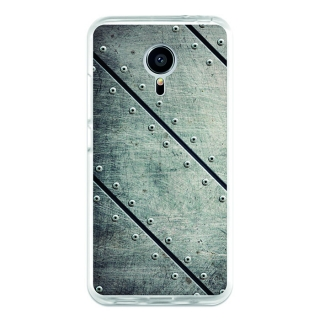 Funda Gel Meizu Mx5 Becool Placas Metal Remaches