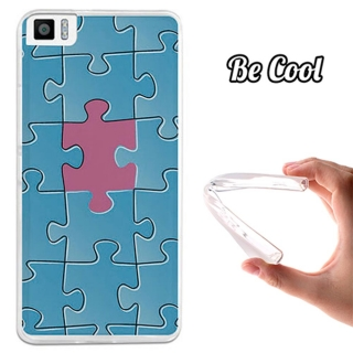 Funda Gel Bq Aquaris M4.5 Becool Puzzle Azul