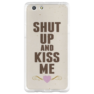 Funda Gel Oppo R1x Becool Shut Up And Kiss Me