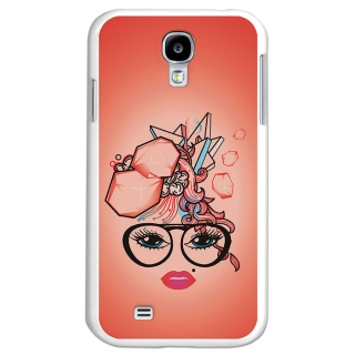 Funda Gel Samsung Galaxy S4 Becool Corte De Pelo Abstracto