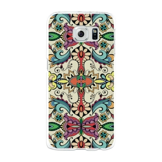 Funda Gel Samsung Galaxy S6 Becool Colorful Abstract Flowers