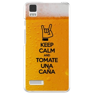 Funda Gel Bq Aquaris E4 Becool Keep Calm Caña