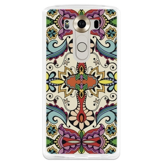 Funda Gel Lg V10 Becool Colorful Abstract Flowers