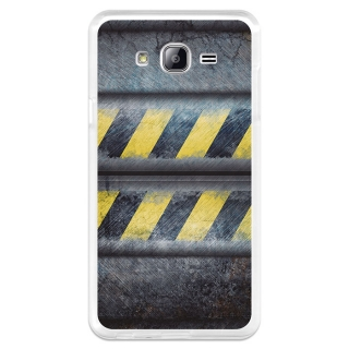 Funda Gel Samsung Galaxy On7 Becool Metal Rayas Advertencia