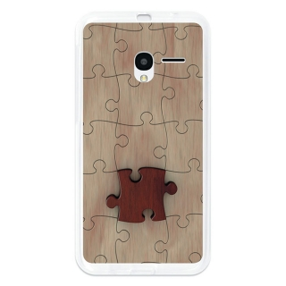 Funda Gel Alcatel Onetouch Pixi 3 5.0 Becool Puzzle Madera