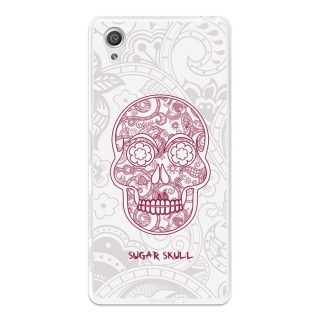 Funda Gel Flexible Tpu Para Sony Xperia X Performance Calavera De Azúcar Blanca - Becool®