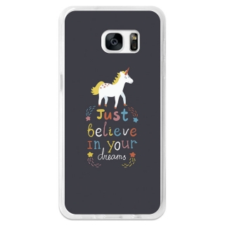 Funda Gel Flexible Tpu Para Samsung Galaxy S7 Edge Just Believe In Your Dreams - Becool®