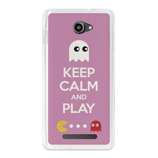 Funda Gel Flexible Tpu Para Archos 50b Helium Keep Calm Comecocos Rosa - Becool®