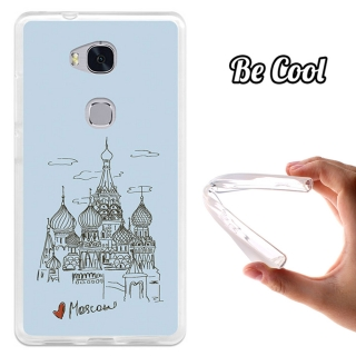 Funda Gel Flexible Tpu Para Huawei Honor 5x Dibujo Catedral De San Basilio - Becool®