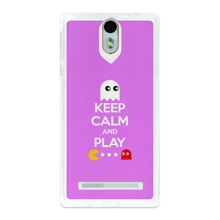 Funda Gel Flexible Tpu Para Wileyfox Storm Keep Calm Comecocos Rosa - Becool®