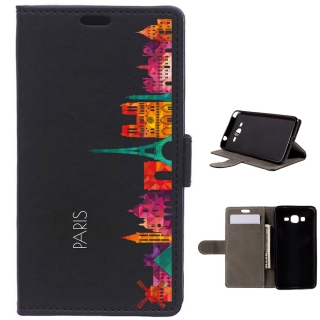 Funda Carcasa Tipo Libro Para Samsung Galaxy Grand Prime Skyline Paris - Becool®