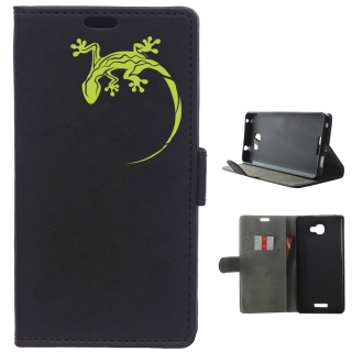 Funda Carcasa Tipo Libro Para Alcatel Flash Plus 2 Salamandra Verde - Becool®