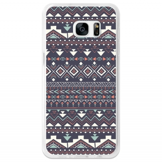 Funda Gel Flexible Tpu Para Samsung Galaxy S7 Edge Tribal Azteca Azul - Becool®