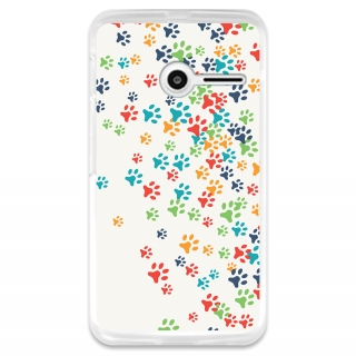 Funda Gel Flexible Tpu Para Vodafone Smart First 6 Huellas Coloridas De Perro  - Becool®