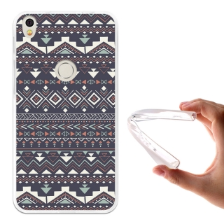 Funda Gel Flexible Tpu Para Alcatel Shine Lite Tribal Azteca Azul - Becool®