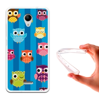 Becool ® - Funda Gel Búho Recortable Infantil Para Wiko Freddy