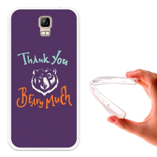 Becool ® - Funda Gel Thank You Beary Much Para Umi Rome - Rome X