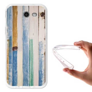 Becool ® - Funda Gel Seaside Wood Para Samsung Galaxy J3 2017
