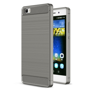 German Tech® - Funda Tpu Elite Carbon Gris Para Huawei P8 Lite