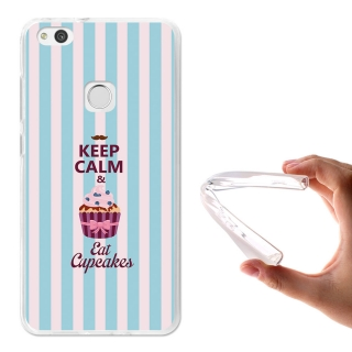 Becool ® - Funda Gel Keep Calm And Eat Cupcakes Para Huawei P10 Lite