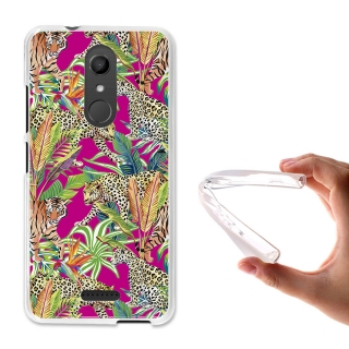 Becool ® - Funda Gel Guepardo Y Tigre Para Wiko U Pulse Lite