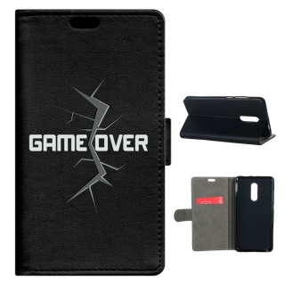Becool® - Funda Libro Game Over Para Xiaomi Redmi Note 4