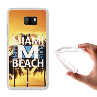Becool ® - Funda Gel Miami Beach Para Htc U Ultra