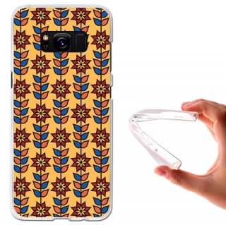 Funda Gel Flexible Tpu Patrón Floral Para Samsung Galaxy S8 - Becool®