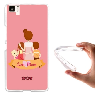 Funda Gel Para Bq Aquaris M5 Regalos Para Madres Love Mom Rosa - Becool®