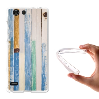 Becool® - Fundas Gel Seaside Wood Para Elephone S2
