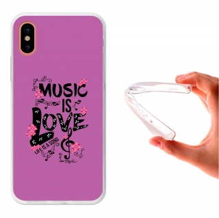 Funda Gel Para Iphone X. La Vida Es Una Canción - 3b®