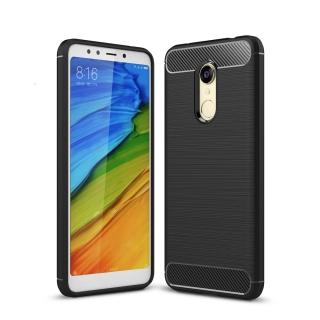 Funda Para Xiaomi Redmi Note 5 - Redmi 5 Plus. Carcasa Gel Elite Carbon Color Negro - German Tech®