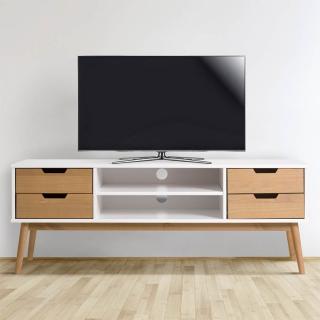 mueble tv java 1 puerta y 2 cajones blanco cera con On mueble television carrefour