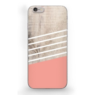 Funda Caseland Wooden Lines Rosa Apple Iphone 6/6s Rigida