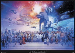 Poster Gigante Star Wars Legacy Characters