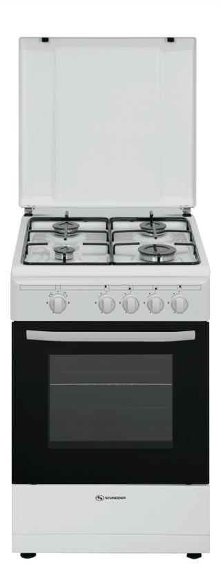 Cocina gas 4 fuegos blanca 54 l schneider scg5020 con ofertas en carrefour - Cocina camping gas carrefour ...