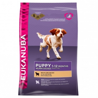 Eukanuba Puppy Rich In Lamb And Rice - Saco De 12 Kg