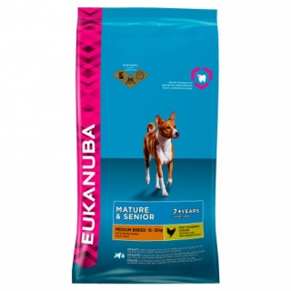 Eukanuba Mature & Senior Medium Breed - Saco De 15 Kg