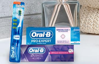 Ir a 2ª -50% En dentífricos, enjuagues,cepillos y seda dental Oral B