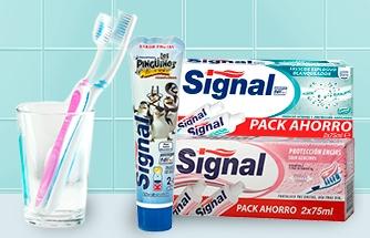 Ir a 2ª 70% En todos los dentífricosy cepillos dentales Signal