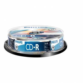Pack de 10 CD-R Philips 700 MB
