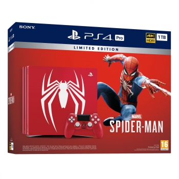PS4 Pro 1TB Edición Limitada con Marvel's Spider-Man