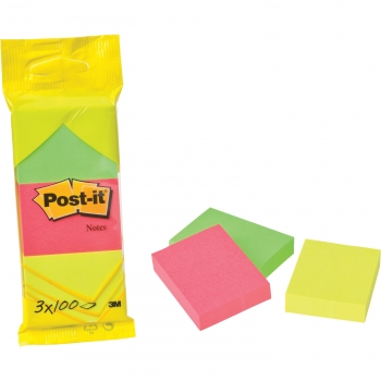 Post-It® Pack 3 Blocs Notas 100 Hojas