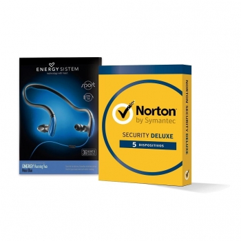 Antivirus Norton Internet Security Deluxe con Auriculares Energy Sistem de Regalo
