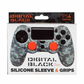 Pack Proteccion Camo Digital Negro para PS4