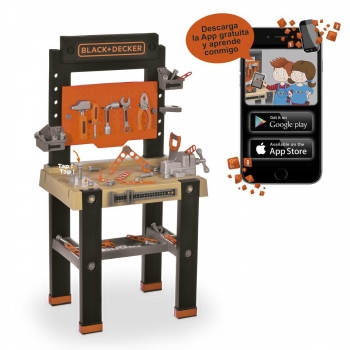 Smoby - Bricolo One Black & Decker y App Carrito